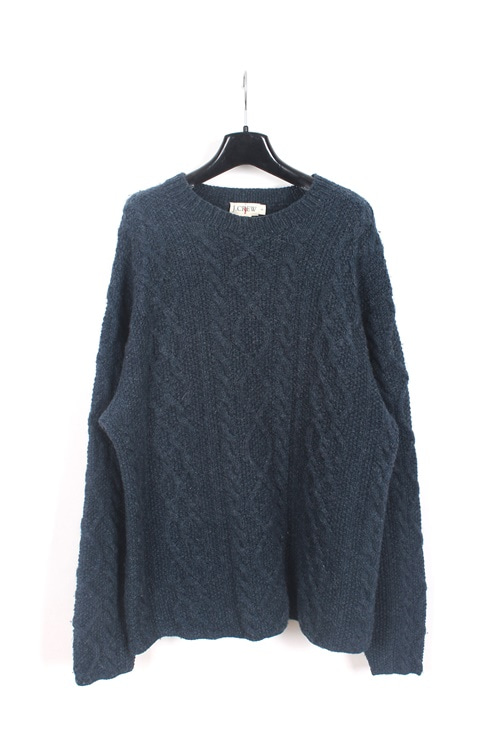 J.crew cable wool knit sweater (M~L)