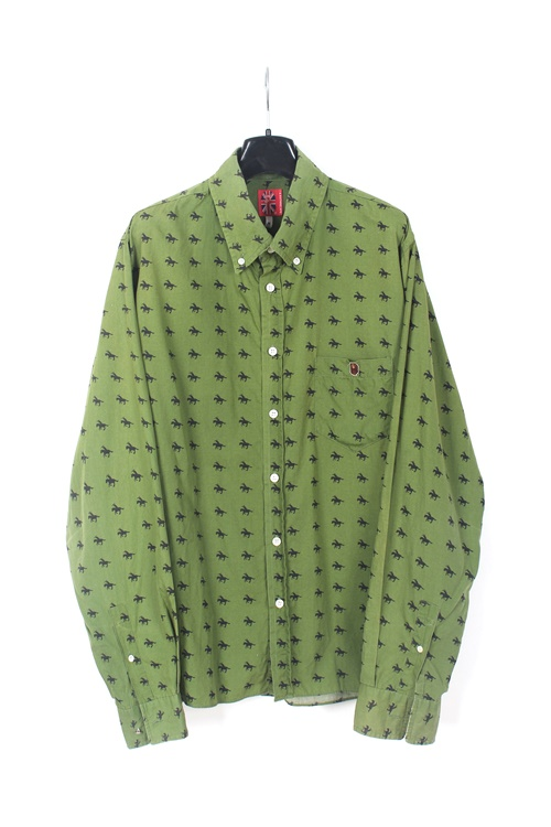 A Bathing Ape pattern cotton shirt (M~L) (made in japan)