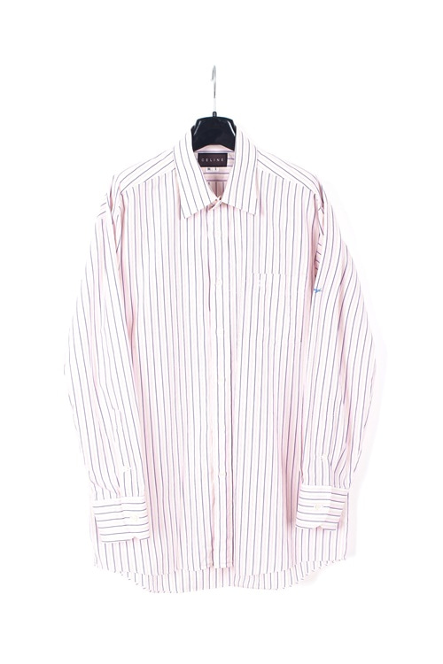 Celine pinstripe cotton shirt (M~L)