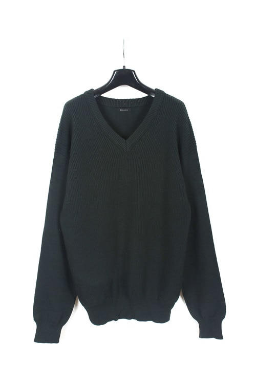 Yohji Yamamoto by Y's formen v neck wool knit sweater (M~L) (made in japan)