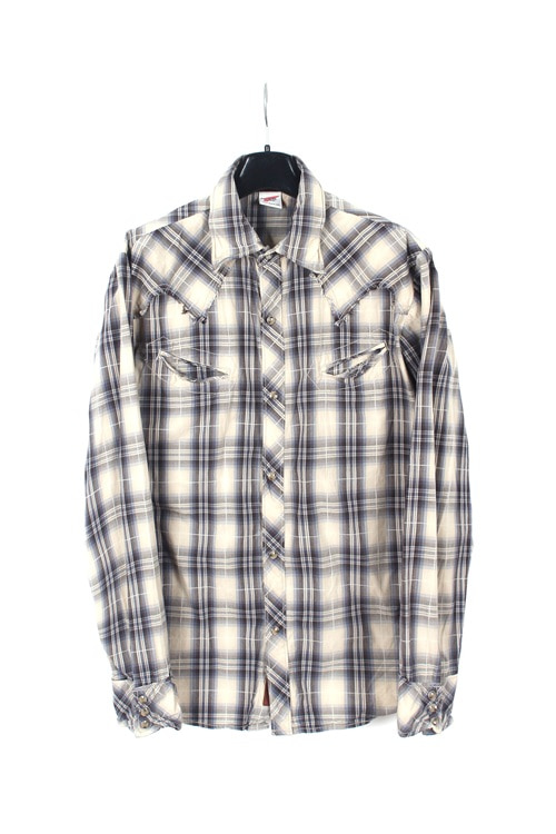 Red Wing western check cotton shirt (M~L)