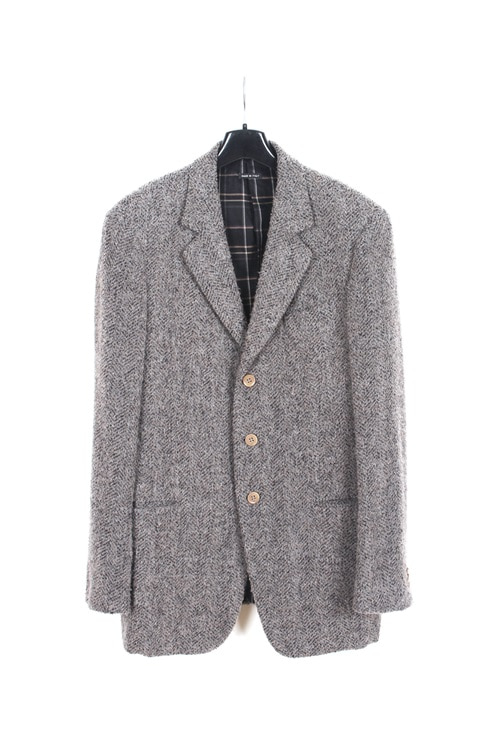 Giorgio Armani lanawool 3burtton tweed jaket (made in italy) (L~XL)
