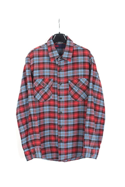 Edwin cotton flannel check shirt (L)