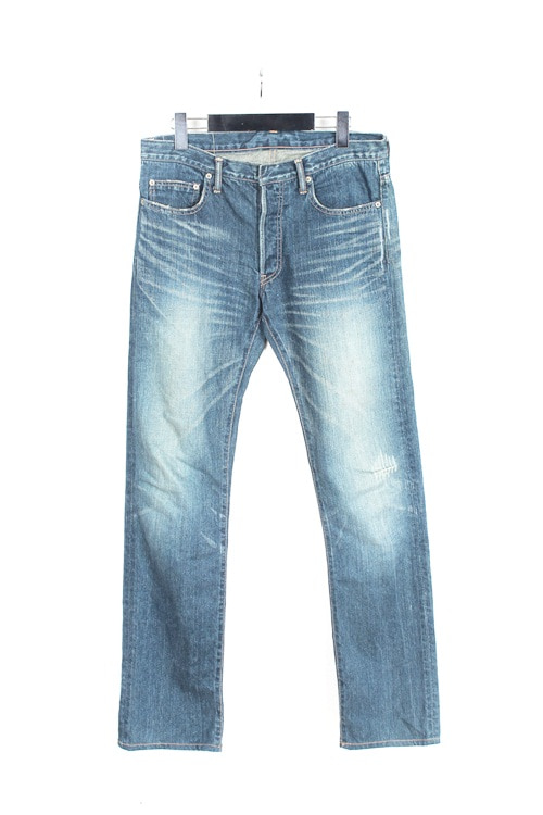 Studio Ecru denim wassing pants (31~32) (made in japan)