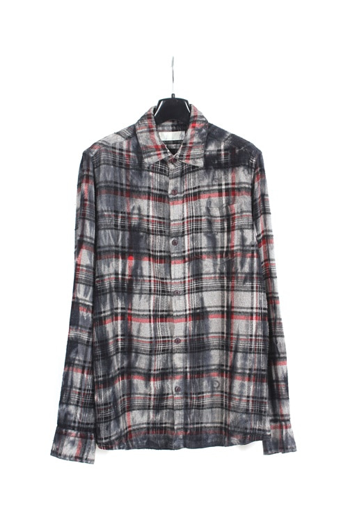 JPN oil washing flannel check shirt (M)
