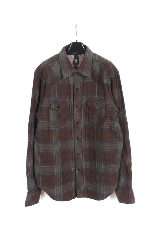 Elements cotton check shirt (L~XL)