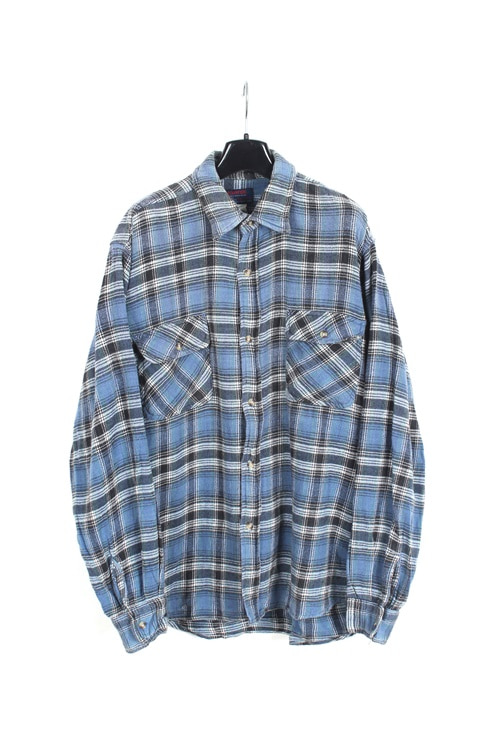 Edwin heavy cotton check shirt  (L)