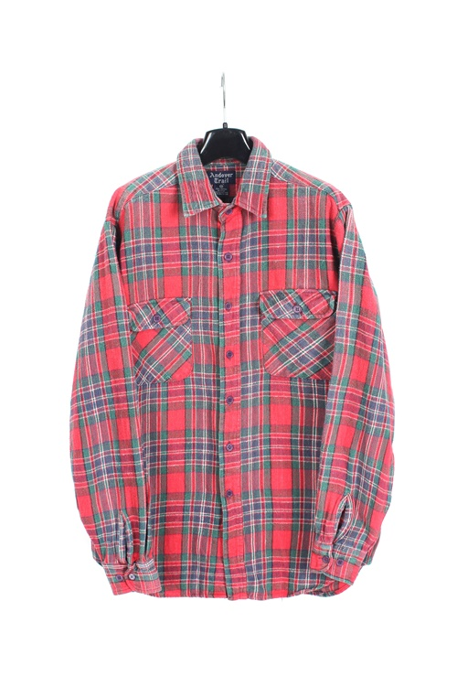 Used haevy cotton check shirt (M~L)