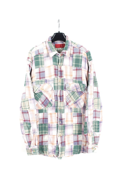 Kerney House pacthwork heavy cotton shirt (L)