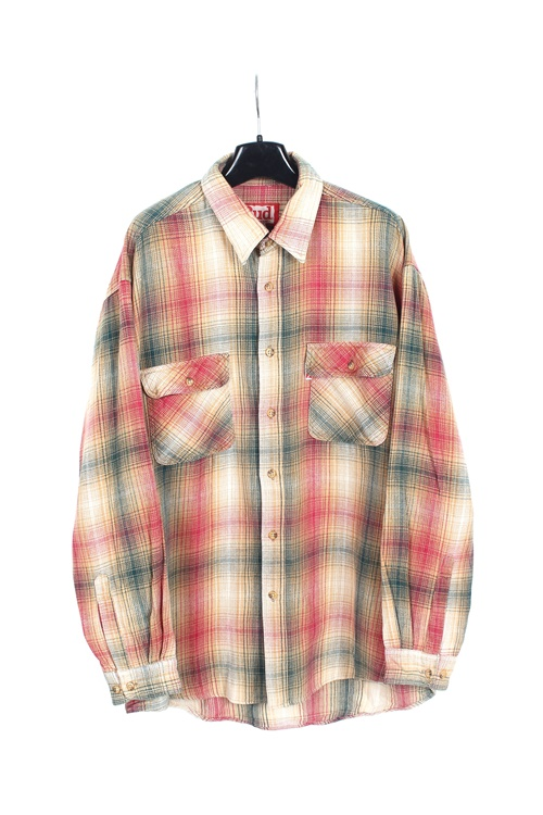 Bud Weiser heavy cotton check shirt (L)