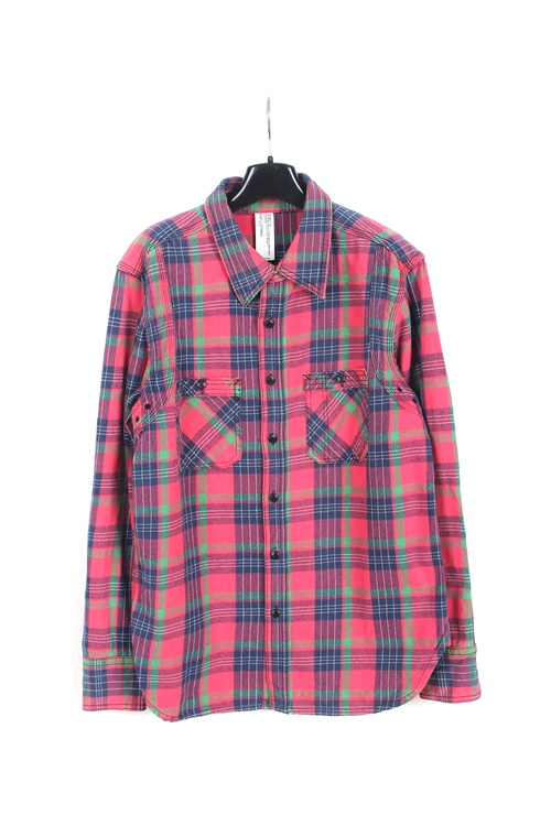 C.A.B clothing heavy cotton check shirt (M~L)