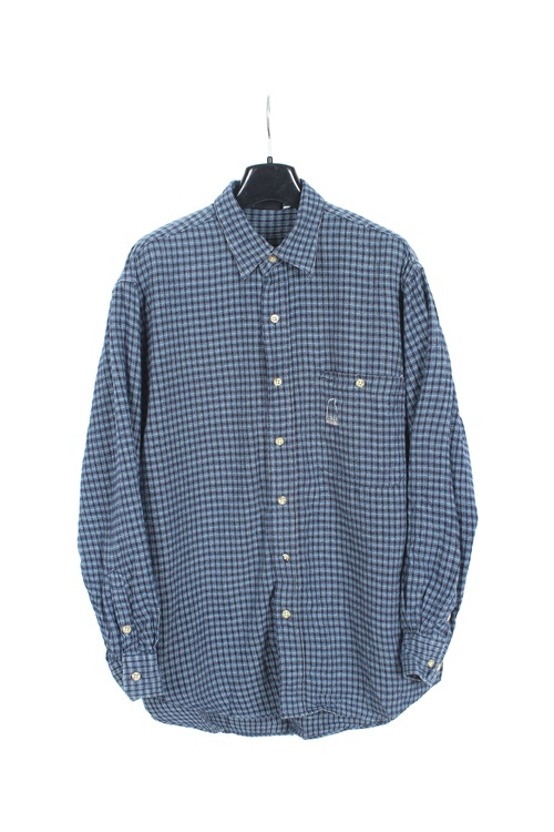 Sierra Design flannel check shirt (M~L)