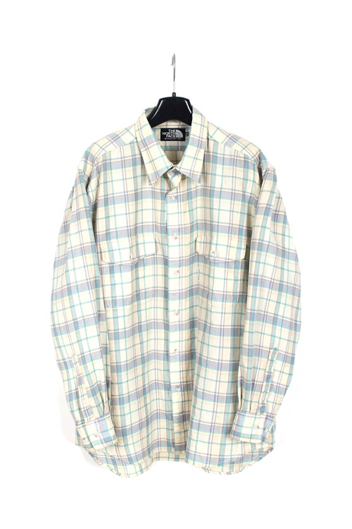 The North Face cotton check shirt (L) (made in u.s.a)