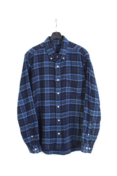 Muji flannel check shirt (M~L)