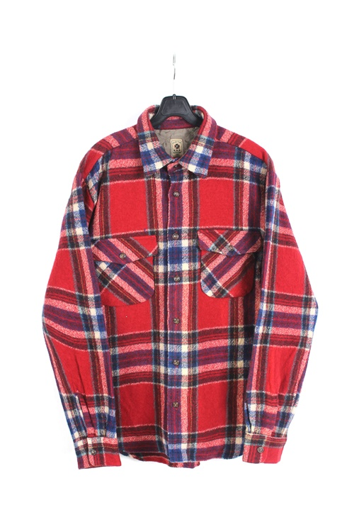 NMD wool check shirt (M~L)