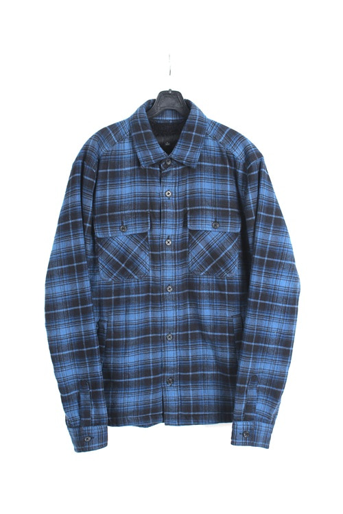 Uniqlo japan sherpa check shirt (L)