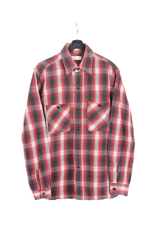 Toyo Enterprise by Sugar Cane organic cotton check shirt (L) (made in japan)