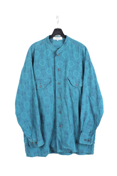 Lanvin china neck uniq pattern shirt (L~XL)