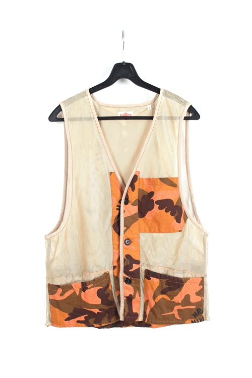 H.R Market camo vest (M) (made in japan)