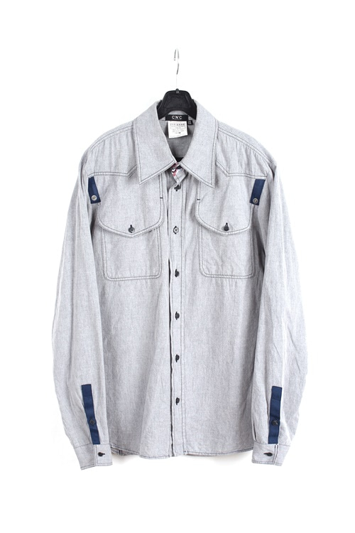 Costum National detail shirt (M~L) (made in italy)