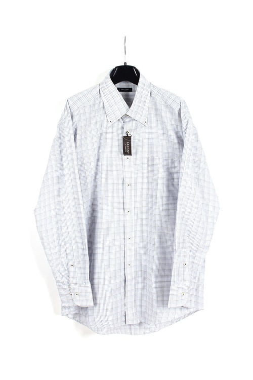 Yohji Yamoto by Sacsny cotton check shirt (L) (새상품)