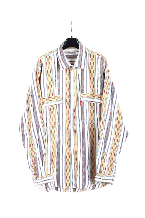 Big John ethnic pattern cotton shirt (L)