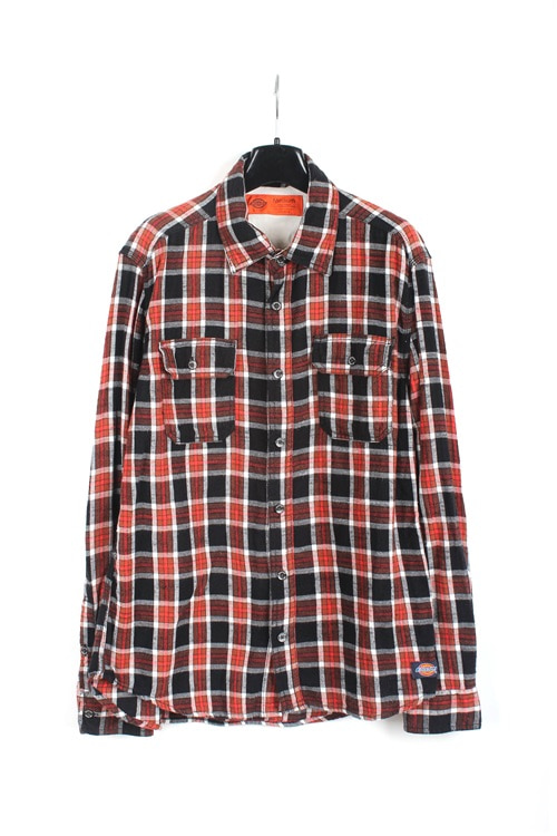 Dickies cotton check shirt (M~L)