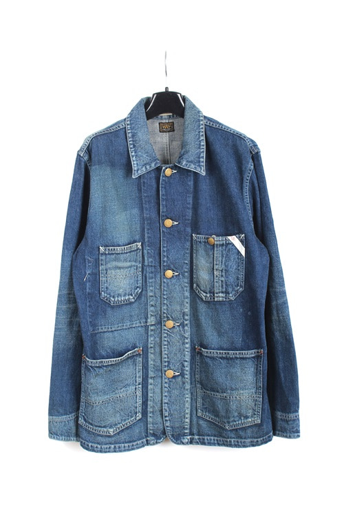 Edwin denim coverall jaket (L) (made in japan)