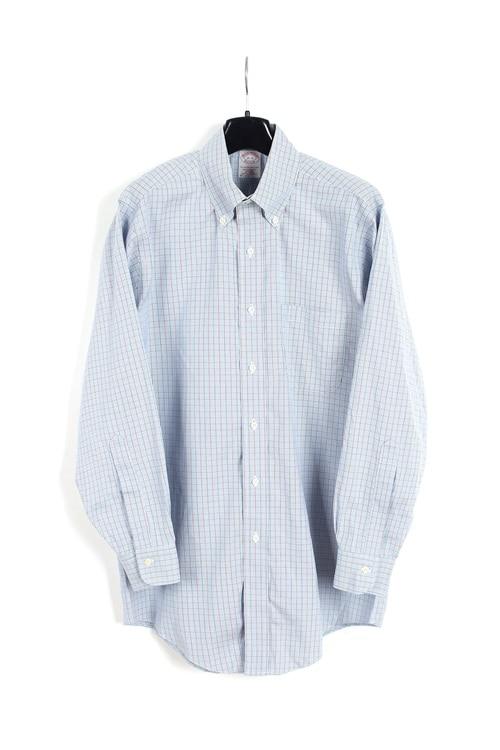 Brooks Brother cotton check shirt (M~L)