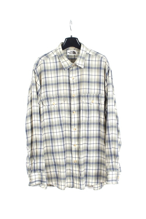 The North Face cotton check shirt (M~L)
