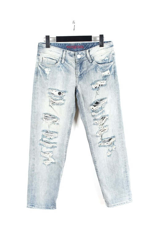 Vanquish damage denim pants (29~30)
