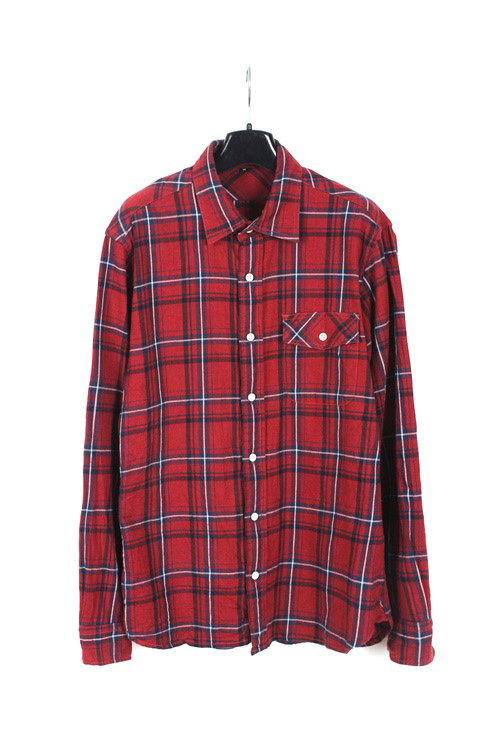 Muji cotton check shirt (M)