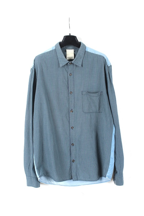 Who's Who Gallery cotton check shirt (M~L)