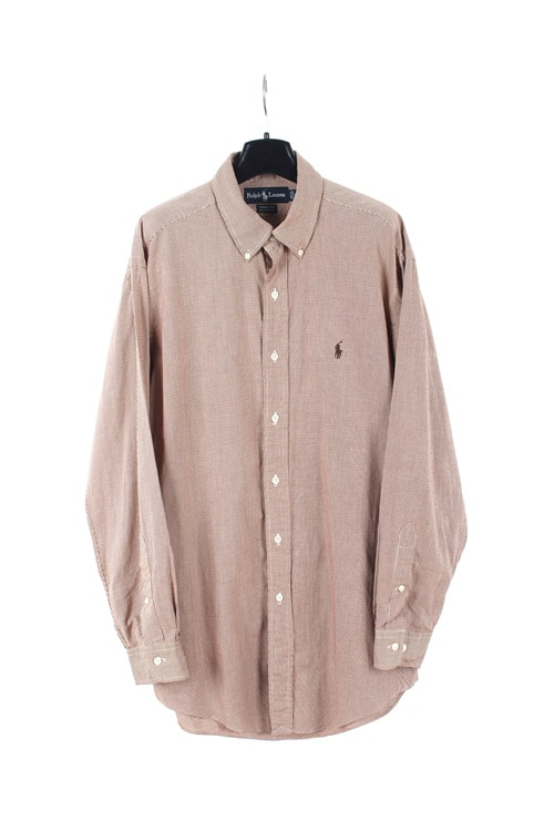 Ralph Lauren cotton check shirt (L~XL)