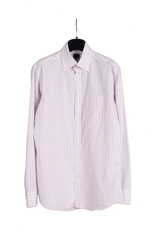 Paul Smith pinstripe cotton shirt (M~L) (made in japan)
