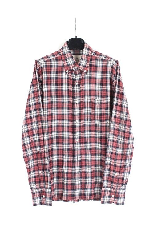 Edfice cotton check shirt (M~L) (made in japan)