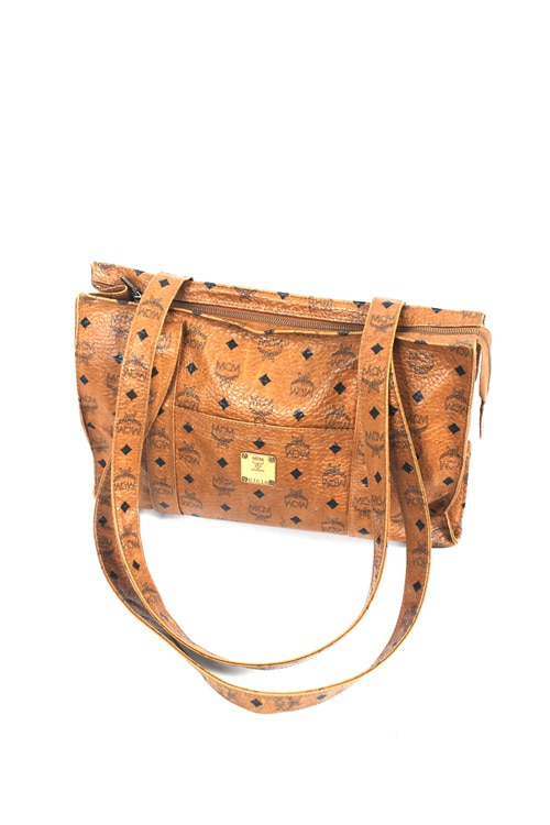 MCM lether tote & cross bag