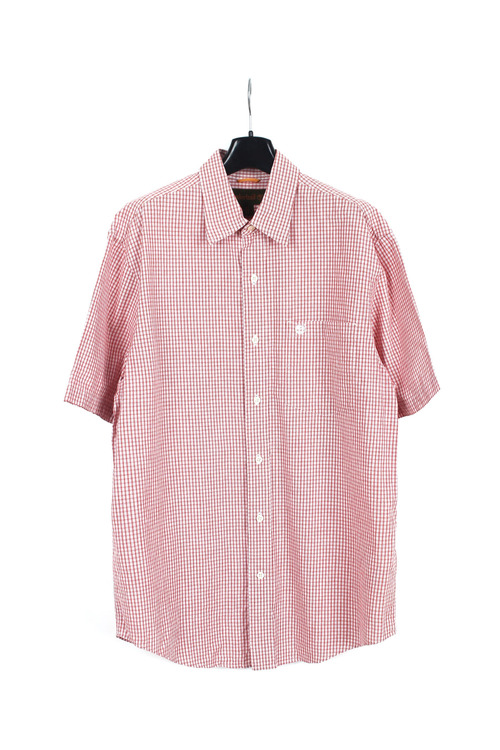 Timberland 1/2 cotton check shirt (L) (made in u.s.a)