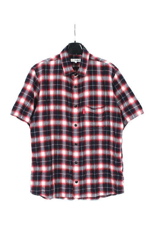 Master Piece 1/2 cotton check shirt (M~L) (made in japan)